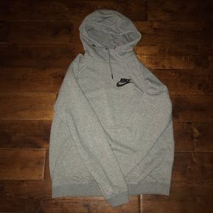 Nike gray funnel neck hoodie. Size Medium